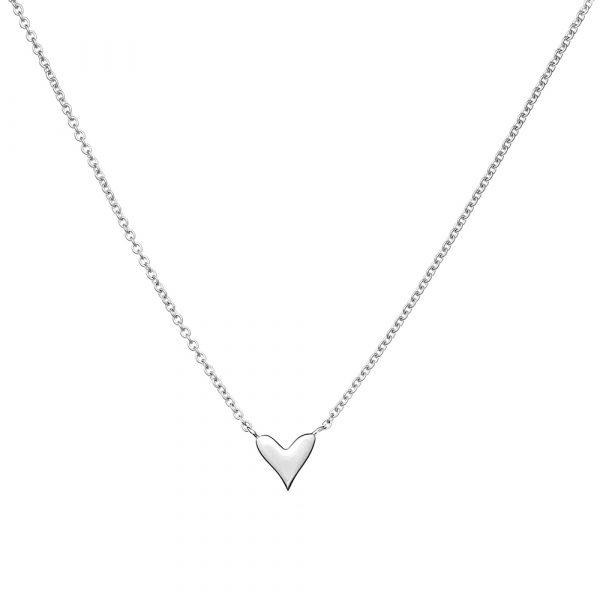 Online, Heart, Necklace, Silver, Jewellery