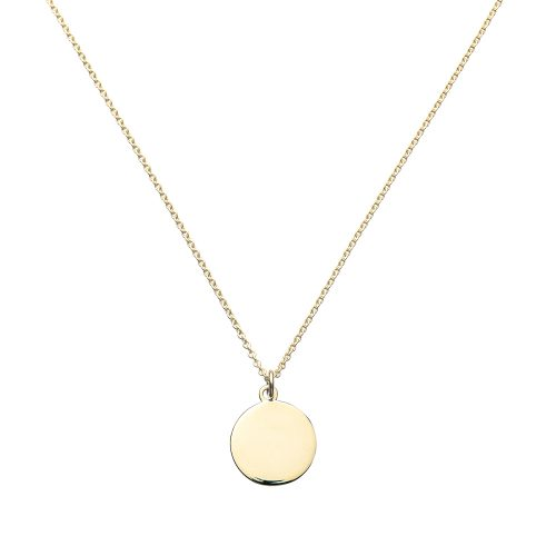 Blank Pendant, Gold Necklace, Jewellery