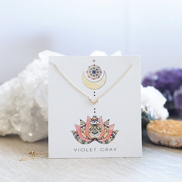 Online, Lotus, Gold, Necklace, Jewellery