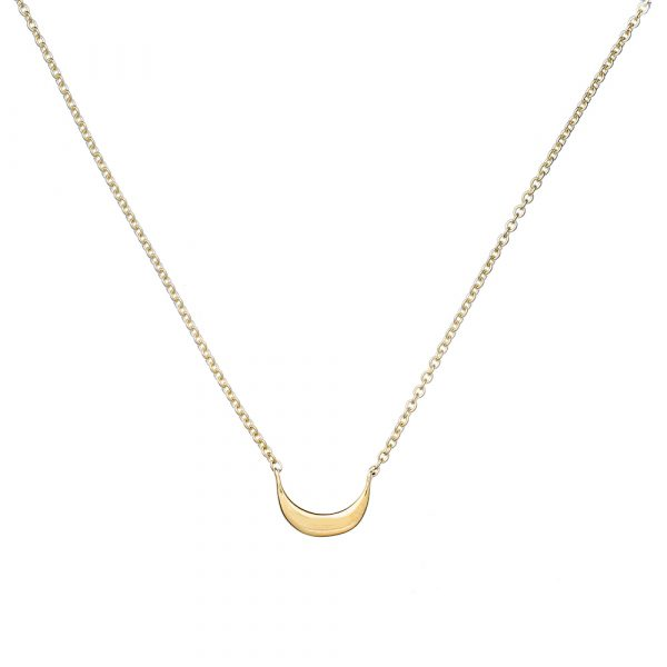 Online, Moon Necklace, Gold, Jewellery