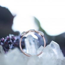 Rose Gold Ring, Clear Quartz, Crystal