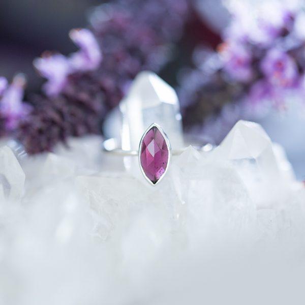 Garnet Ring, Jewellery, Violet Gray Design