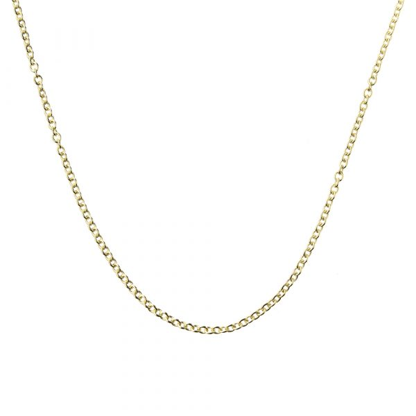 Solid Gold Chain, Cable Chain, 9kt Gold