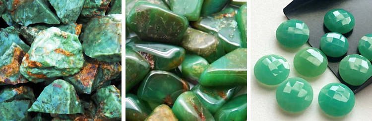 Chrysoprase, Crystals, Jewellery