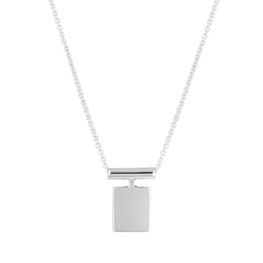 Blank Pendant, Silver Necklace, Jewellery