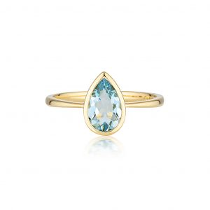 Aquamarine Ring, Gold Rings, Violet Gray