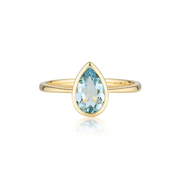 Aquamarine Ring, Gold Rings, Violet Gray