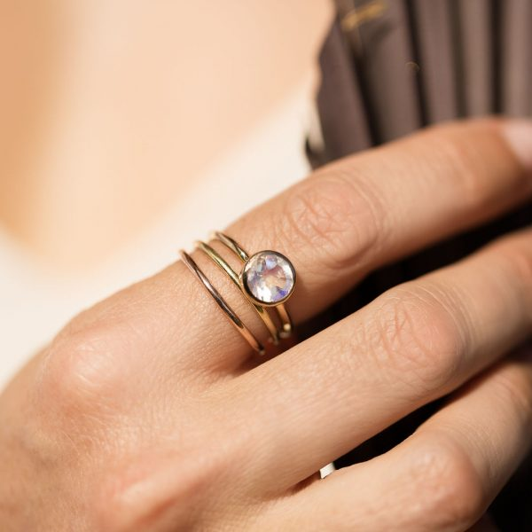 Moonstone Gold Ring, Engagement Ring, Online Jewellery