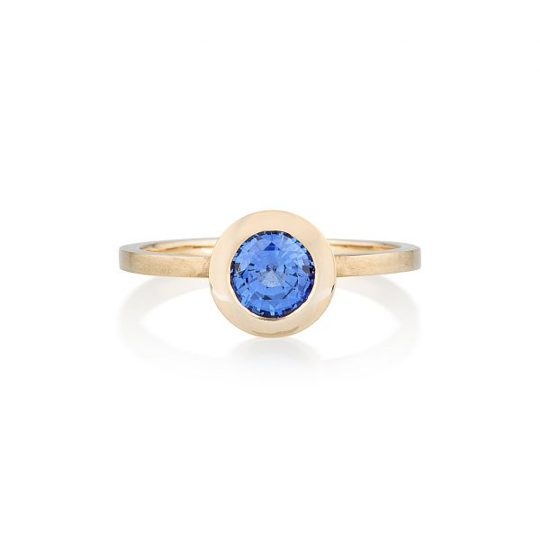 Ceylon Sapphire Gold Ring, Engagement Ring, Online Jewellery