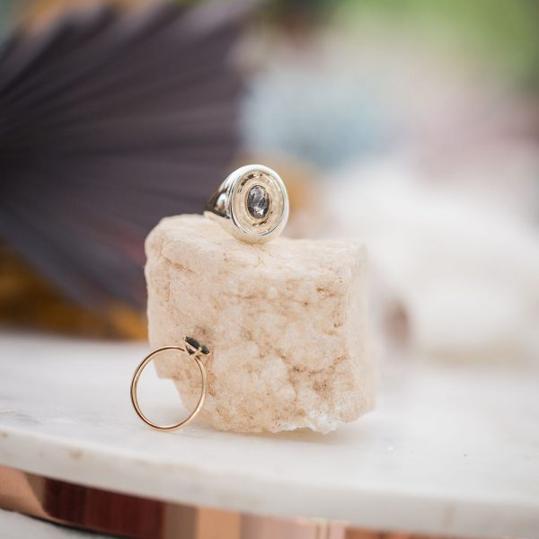 Signet Ring, Salt and Pepper Engagement Ring, Online Jewellery