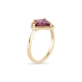 Garnet Gold Ring, Engagement Ring, Online Jewellery