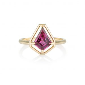 Garnet Gold Ring, Engagement Ring, Online Jewellery