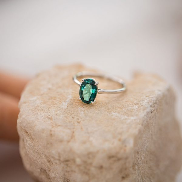 Tourmaline Gold Ring, Engagement Ring, Online Jewellery
