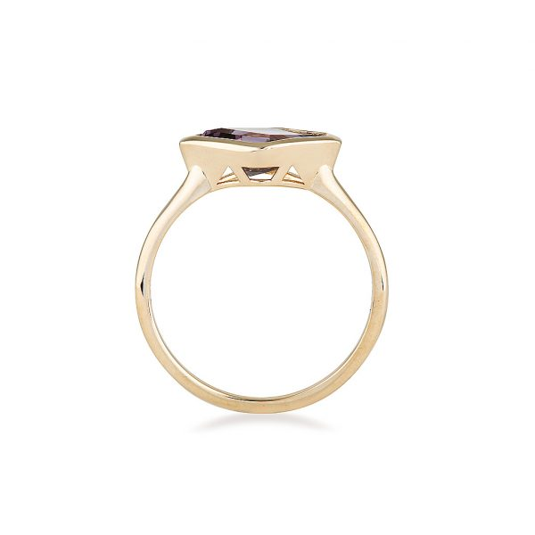 Spinel Gold Ring, Alternative Engagement Ring, Online Jewellery
