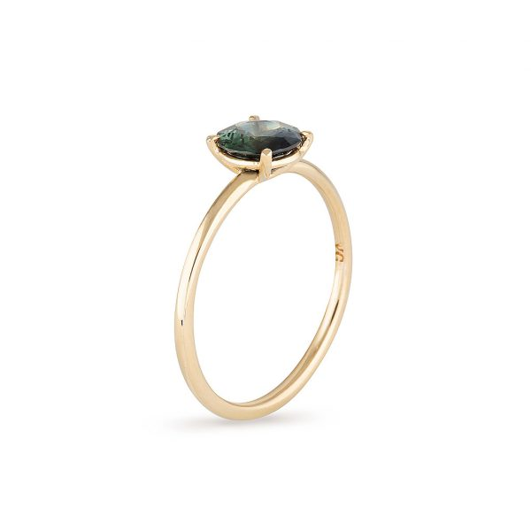 Australian Sapphire Gold Ring, Engagement Ring, Online Jewellery