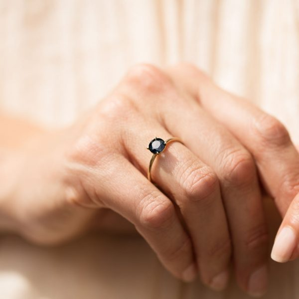 Australian Sapphire Gold Ring, Engagement Ring, Online Jewellery