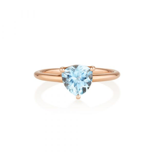 Aquamarine Gold Ring
