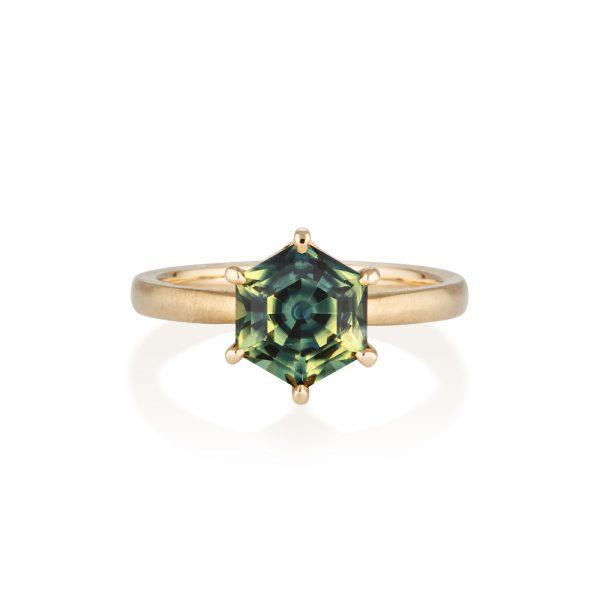 Australian Parti Sapphire Ring