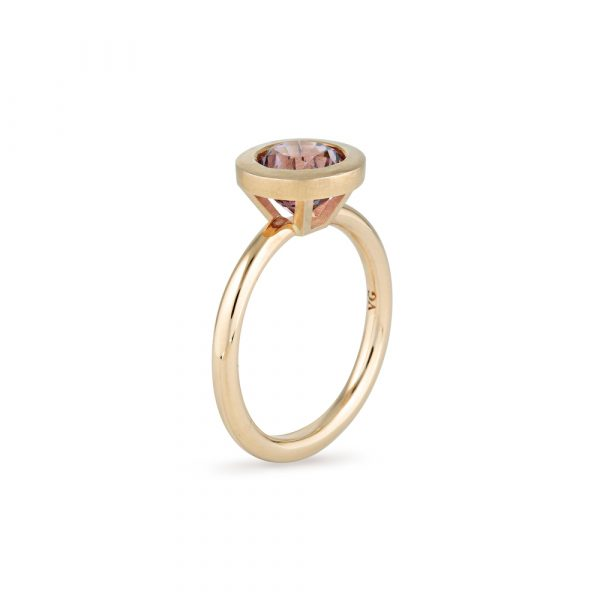 Purple Spinel Gold Ring