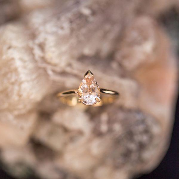Morgnanite Diamond Ring