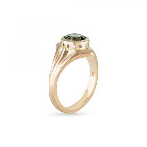 Australian Sapphire Diamond Ring
