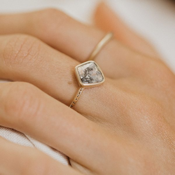Diamond Slice Gold Ring
