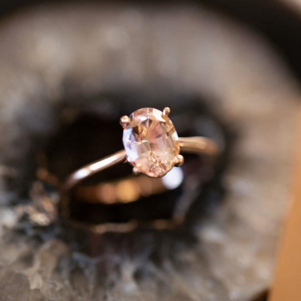 Bi-colour (Pink) Tourmaline Ring