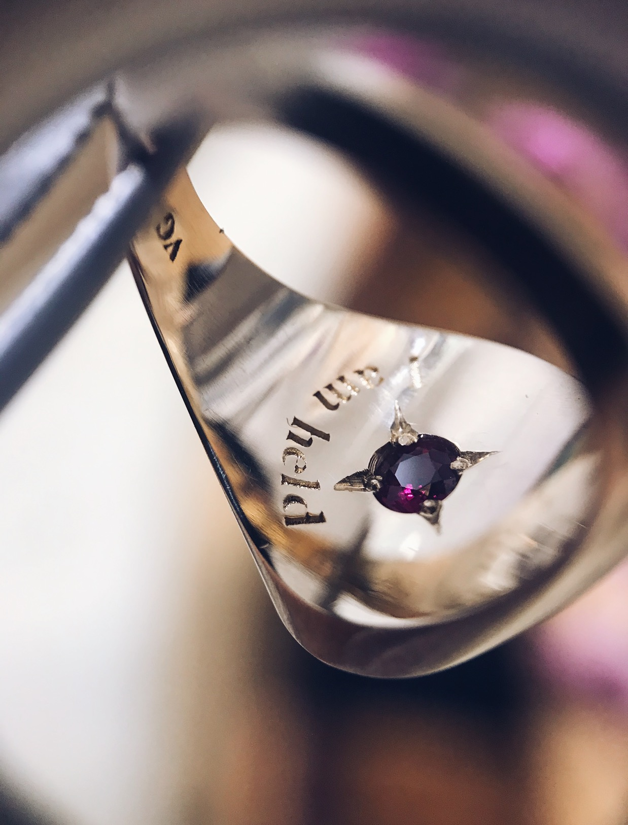 Internal Engraving and Hidden 3mm Ruby