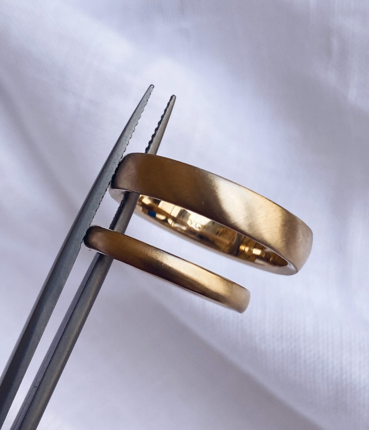 Matching Male and Female Wedding Rings | 14k Yellow Gold